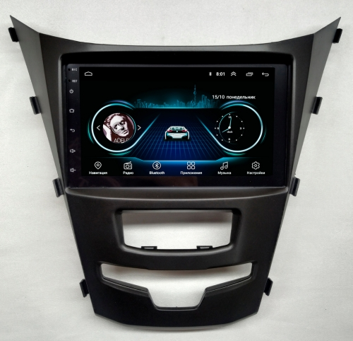Штатная магнитола SsangYong Actyon NaviFly Android 8 16/1Gb