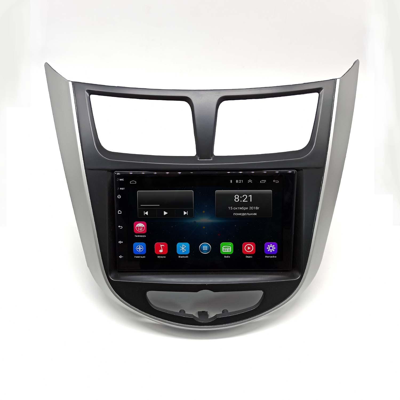 Штатная магнитола Hyundai Solaris NaviFly Android 8