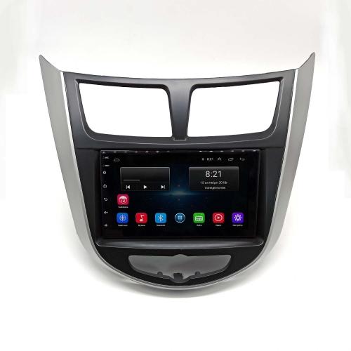 Штатная магнитола Hyundai Solaris NaviFly Android 6
