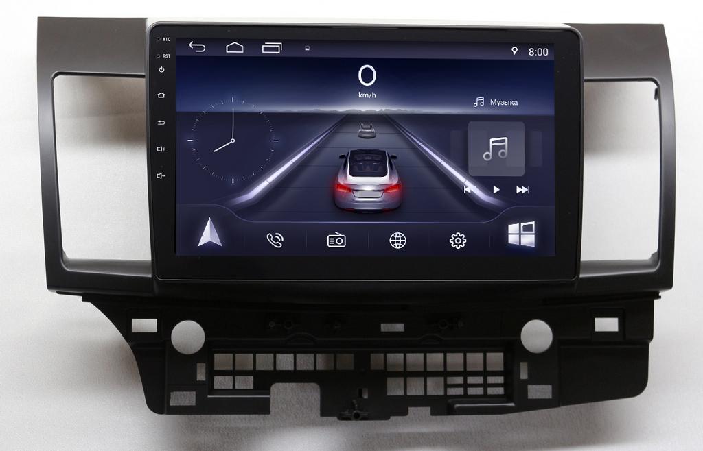 Штатная магнитола Mitsubishi Lancer 10 NaviFly Android  1/16Gb