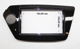 Переходная рамка Kia Rio 2011 2din черная
