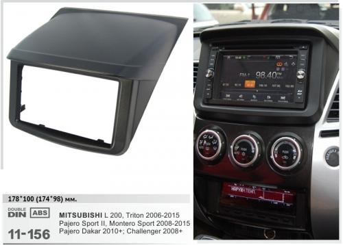 Переходная рамка Mitsubishi L200, Pajero Sport 2din