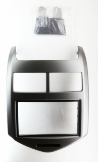 Переходная рамка для Chevrolet Aveo 2012 2din черная