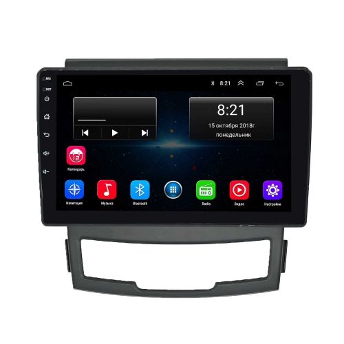 Штатная магнитола Ssang Yong New Actyon NaviFly Android 8 16/1gb
