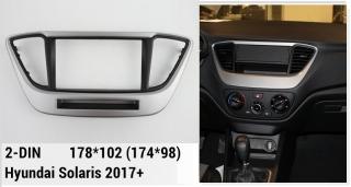 Переходная рамка Hyundai Solaris 2017+ 2din
