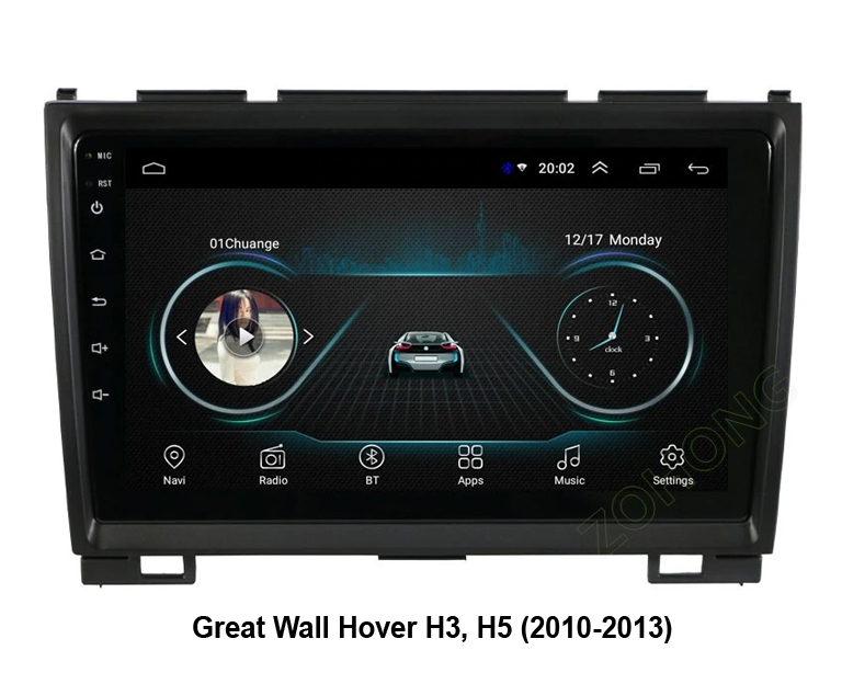 Штатная магнитола Great Wall Hover H3, H5 NaviFly Android