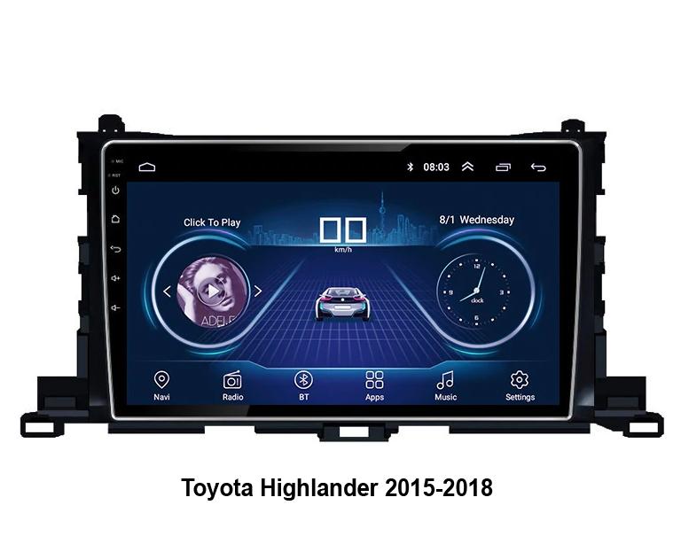 Автомагнитола NaviFly Toyota Highlander Android 6