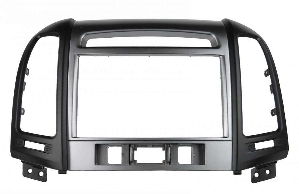 Переходная рамка для Hyundai Santa Fe 2010+ 2din с отверстиями под 3 кнопки под магнитолой