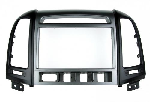 Переходная рамка для Hyundai Santa Fe 2010+ 2 din с отверстиями под 4 кнопки под магнитолой