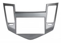 Переходная рамка для Chevrolet Cruze 2009+ 2Din серебро