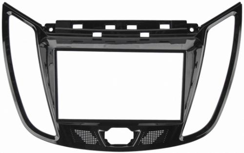 Переходная рамка Ford Focus 3, C-max 2011- 2din, крепеж, черная (4,2 ЖК)
