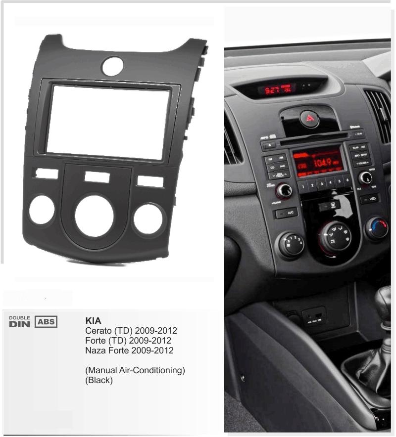 Переходная рамка для KIA Cerato 2009+ 2Din Manual AC черный
