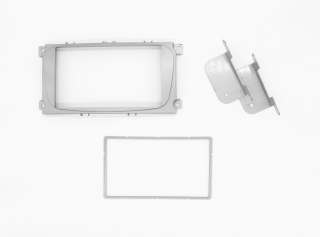 Переходная рамка Ford Mondeo 2007+, C-Max 2 Din серебро