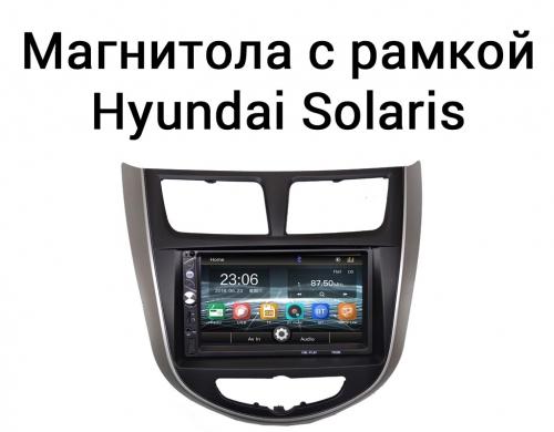 Штатная магнитола Hyundai Solaris без GPS