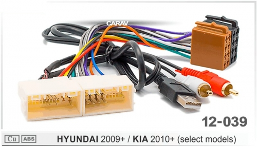 ISO переходник Kia Rio 2011+, Sportage 2010+, Ceed 2010+, Sorento 2012+, Mohave 2008+, Optima 2012+ USB-AUX