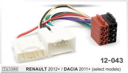 ISO переходник Renault Logan, Sandero, Duster 2012+