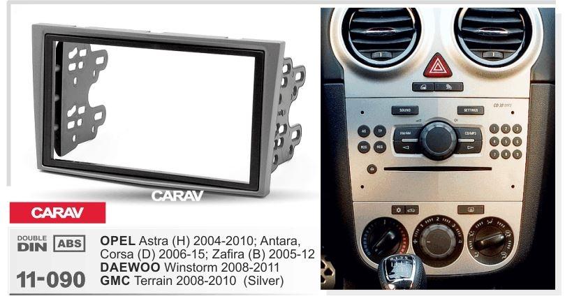 Переходная рамка Opel Vectra, Opel Zafira, Opel Astra 2Din серый