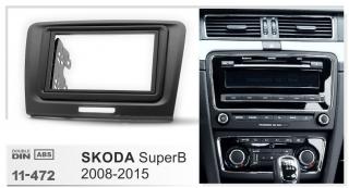 Переходная рамка Skoda SuperB 2008-2015 2DIN