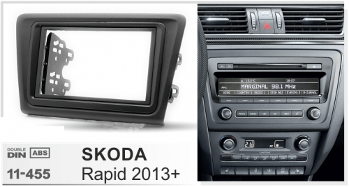 Переходная рамка Skoda Rapid 2013+